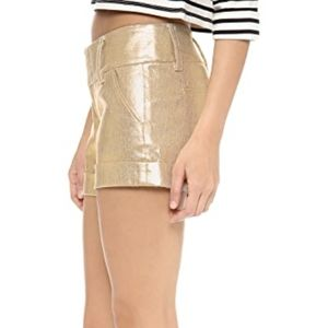 alice + olivia slinky metallic shorts